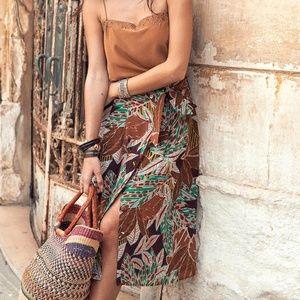 Sezane silk skirt size 4